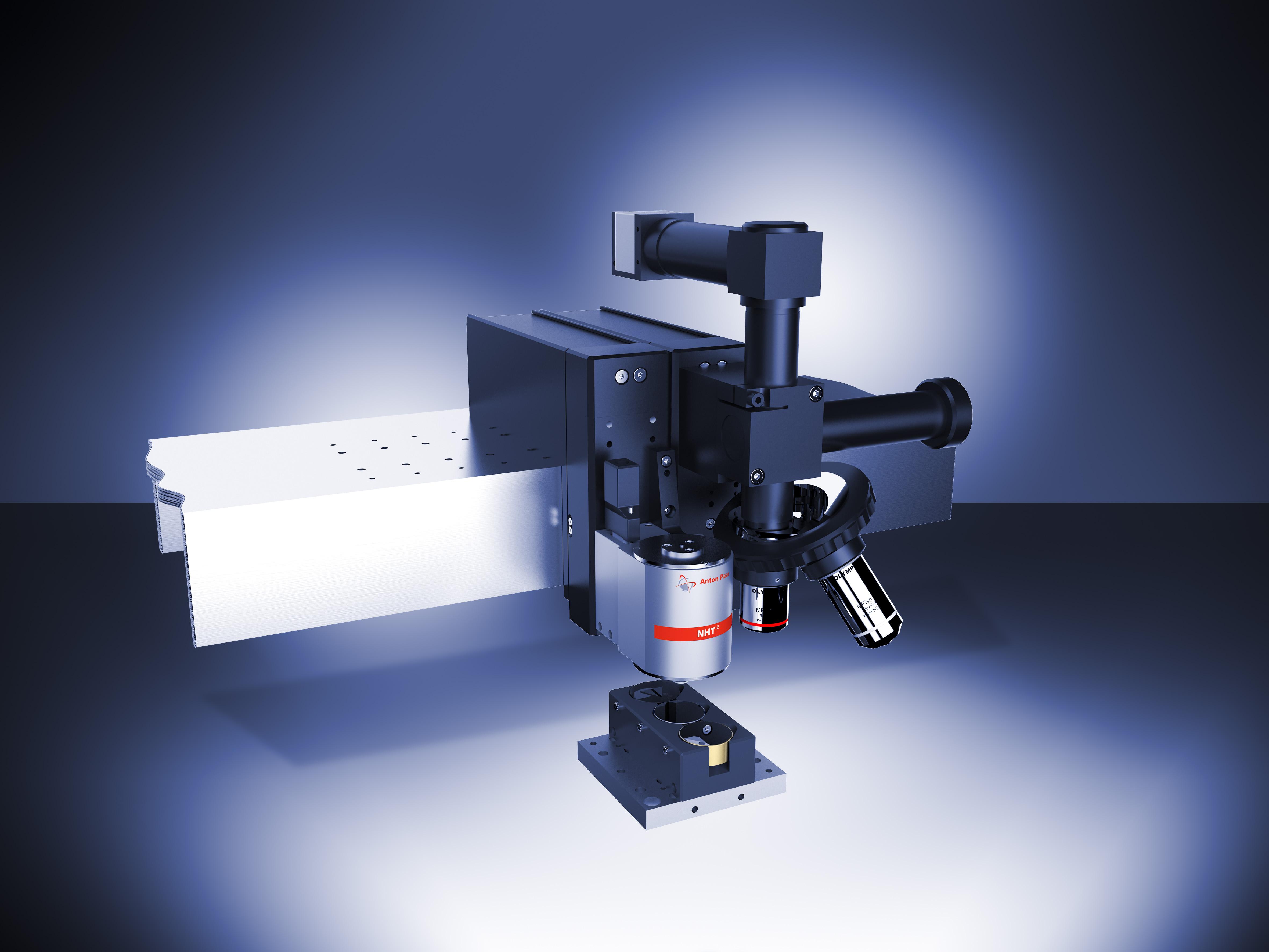 Рис. 2: Модуль НаноИндентирования на балке Платформы с Видеомикроскопом