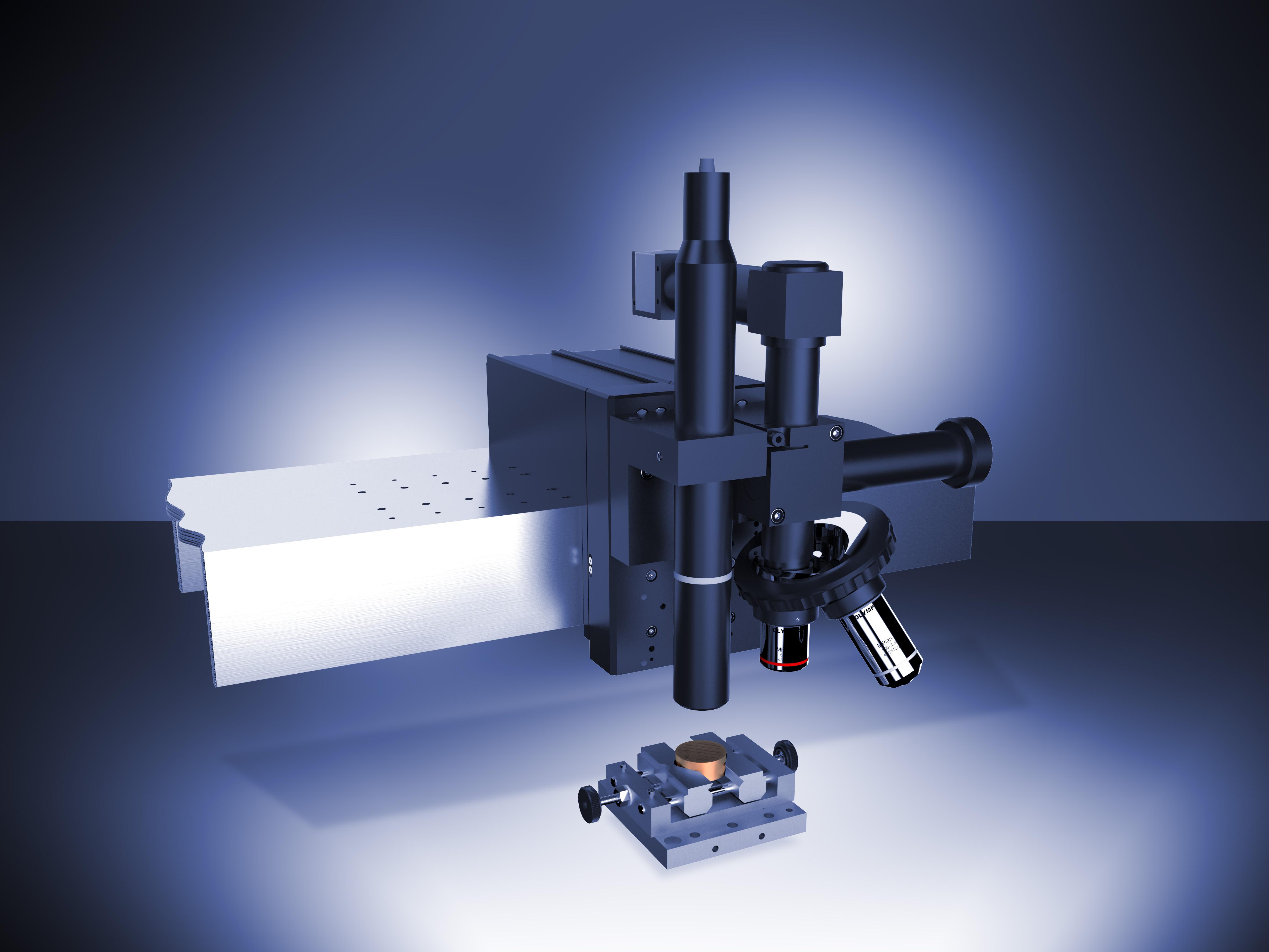 Конфокальный профилометр ConScan на балке Платформы с Видеомикроскопом