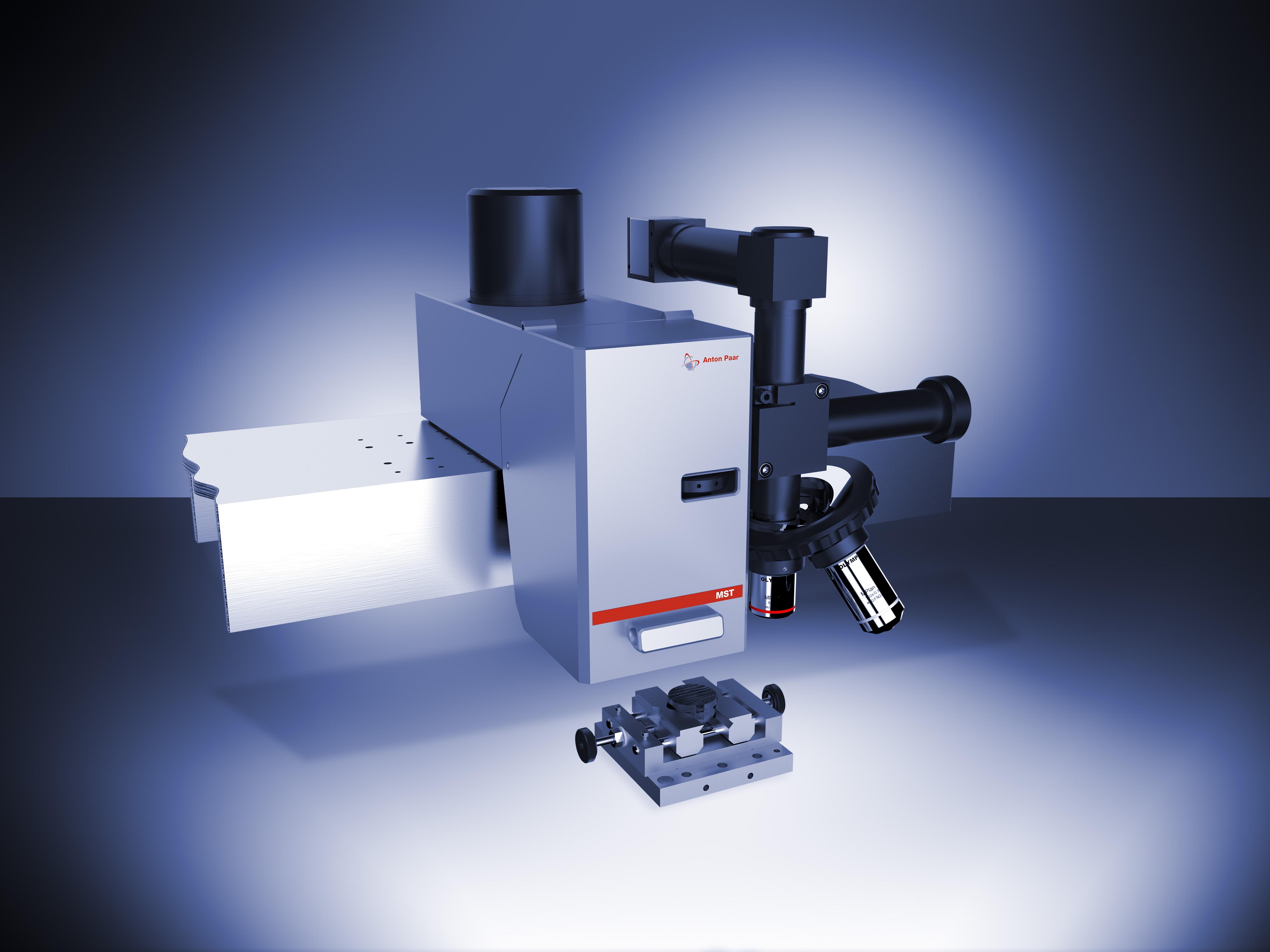 Рис. 2: Модуль Микро Скретч Тестера на балке Платформы с Видеомикроскопом