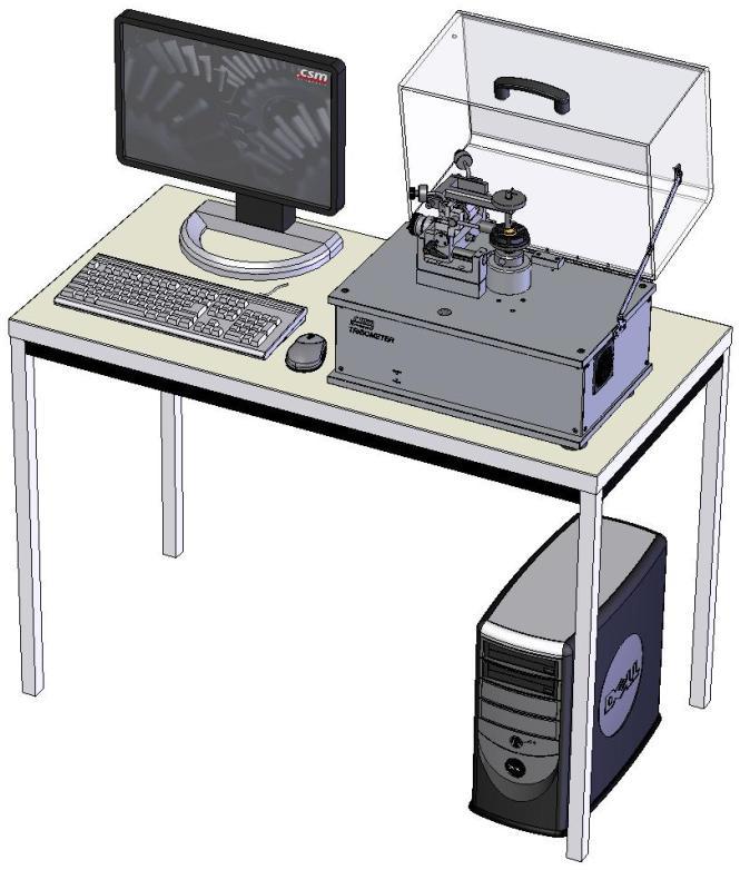 Пример размещения трибометра на рабочем месте